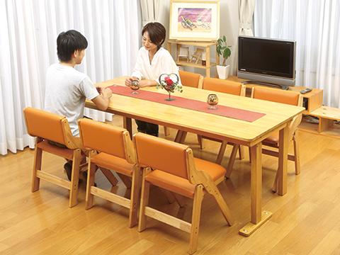 ダイニングテーブル7点セット(肘なし)