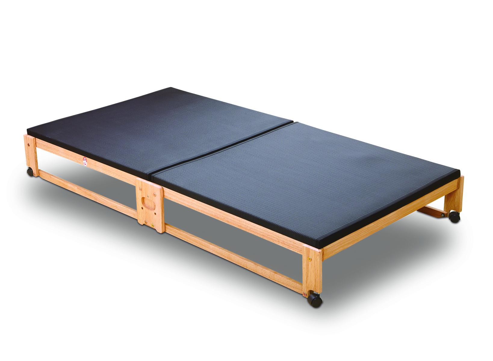[NK-2713]炭入り折りたたみベッド畳 ロータイプ ワイドシングル