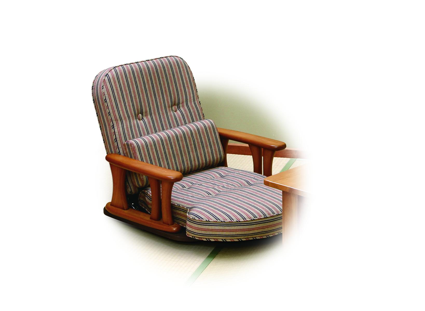[NK-2200]回転肘付き座椅子 4段階調整