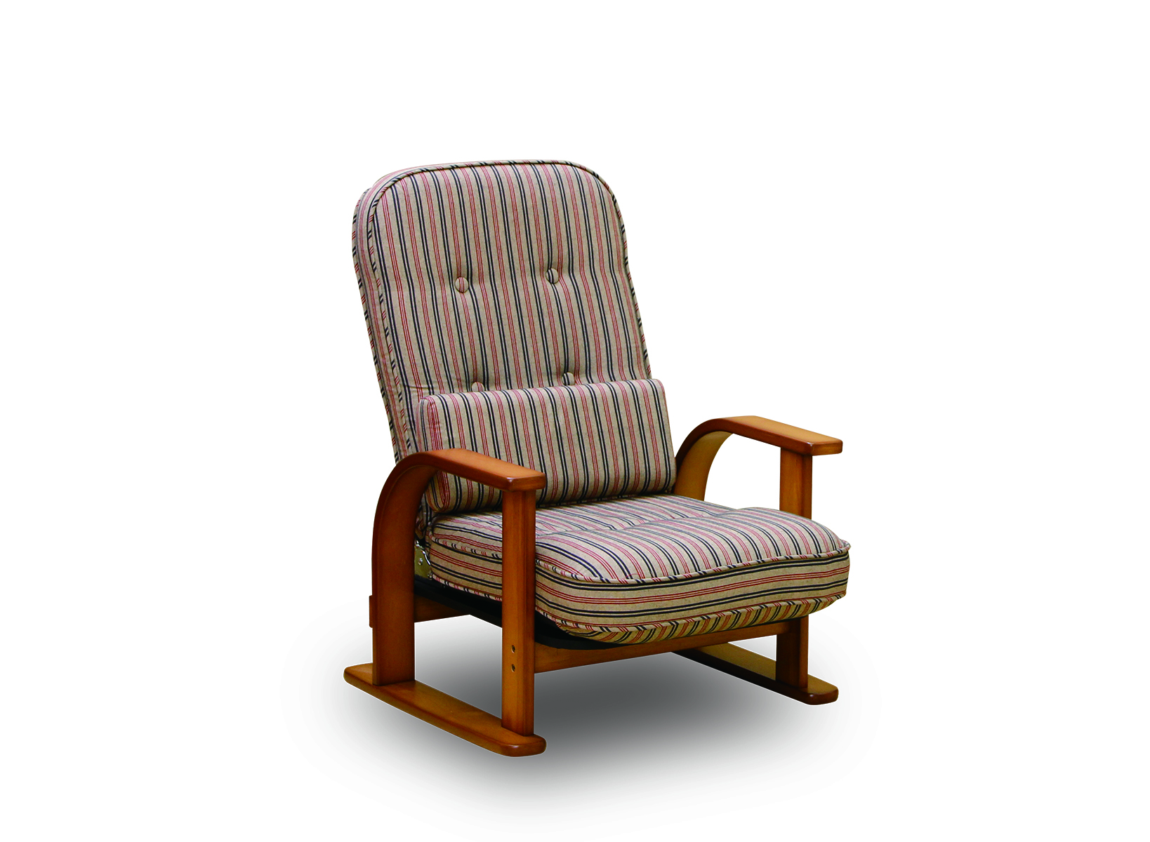 [NK-2220]肘付き高座椅子 4段階調整 ロータイプ